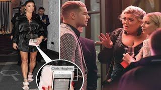 Katie Price screams at Chris Hughes as he takes stage at star studded bash