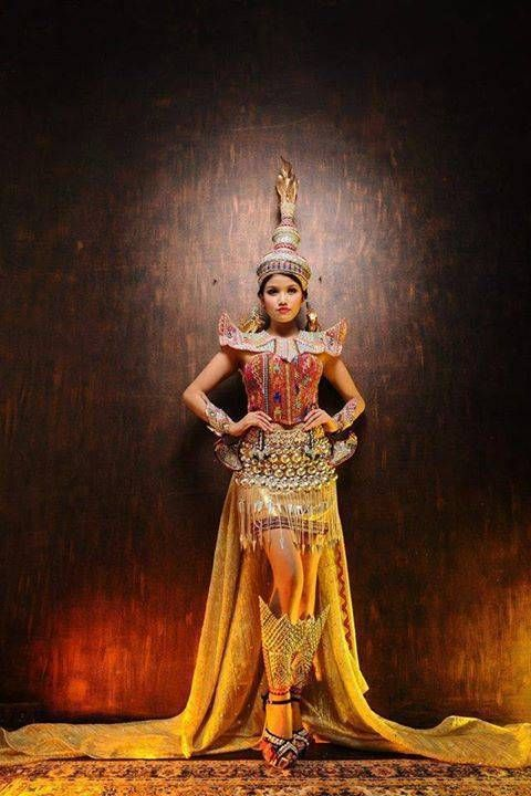 ミスグランド2014のミャンマーの民族衣装