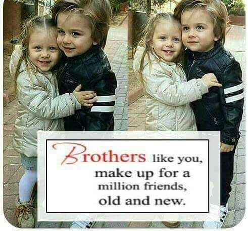 The only thing in the world that will remain constant, no matter what, is the bond we share Tag-mention your brother and sister .