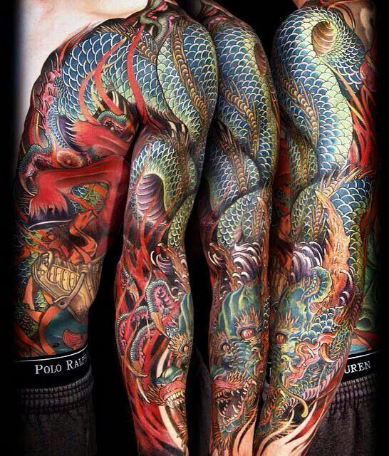 tatouage dragon japonais quotes. Black Bedroom Furniture Sets. Home Design Ideas