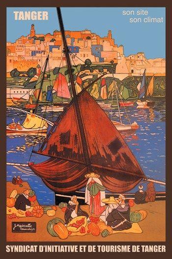 Poster-pub pour Tanger, oeuvre de Majorelle - Maroc Désert Expérience tours http://www.marocdesertexperience.com