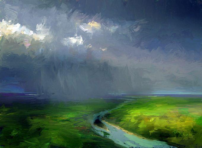 Артём Чебоха. Rhads. Цифровое искусство. Дождь