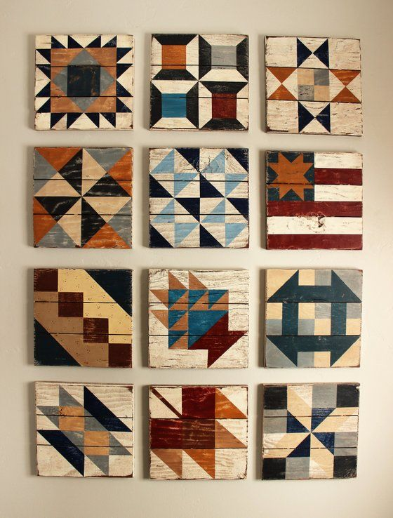 Image of Civil War Barn Quilt Block of the Month Kits - 2017
