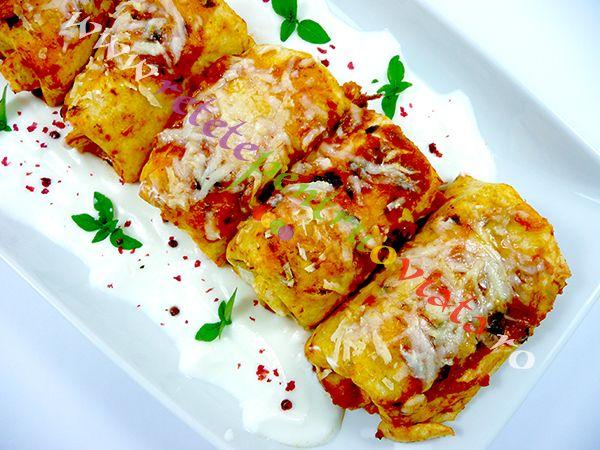 O reteta de clatite umplute cu pui si legume deosebit de gustoasa si foarte aspectuoasa, preparata din ingrediente obisnuite si ieftine!
