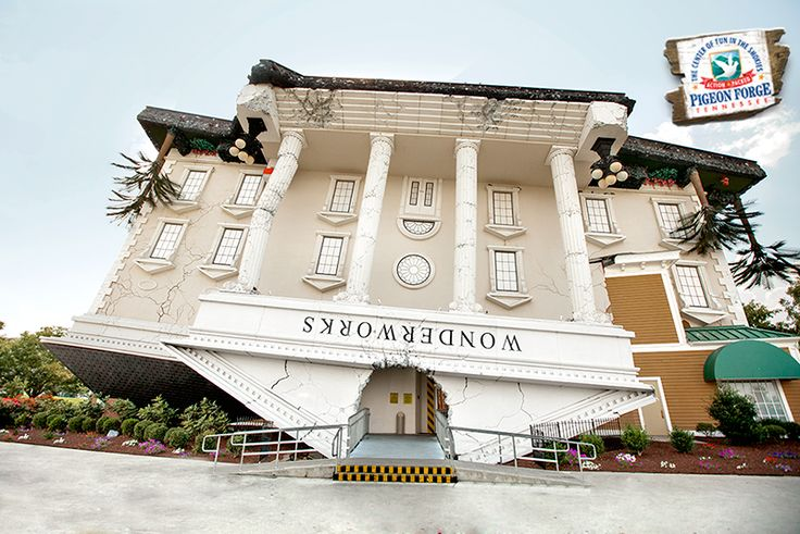 Exercise your brain while playing at the upside down attraction WonderWorks in #PigeonForge.