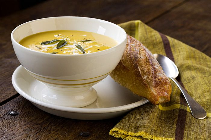 ... Squash Soup with Browned Butter and Sage #ChallengeButter #butter