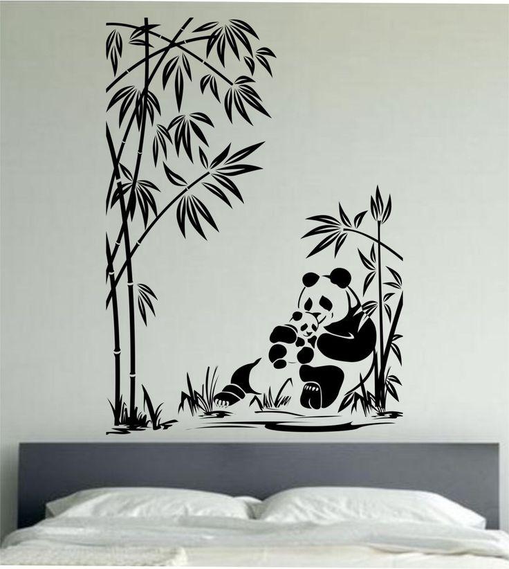 Panda Wall Decal Panda Family Sticker Art Decor Bedroom