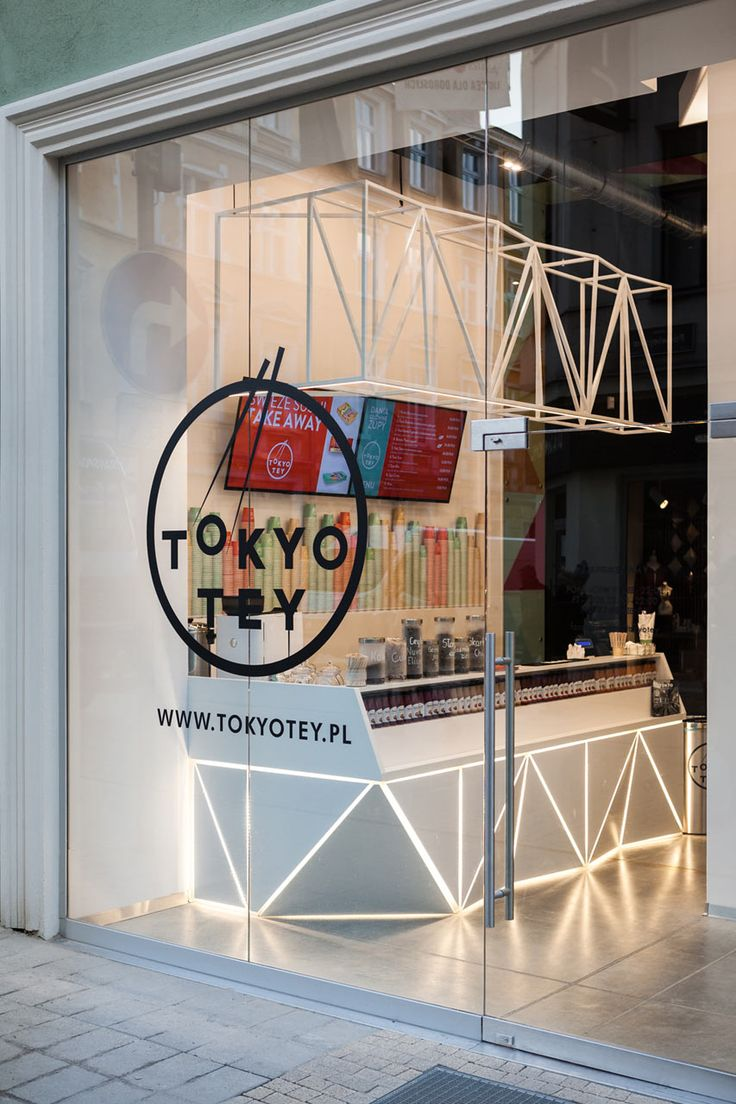 Mode:lina architekci chose the color scheme based on the food Tokyo Tey, a newly opened sushi store in Pozna?, Poland, would be serving.
