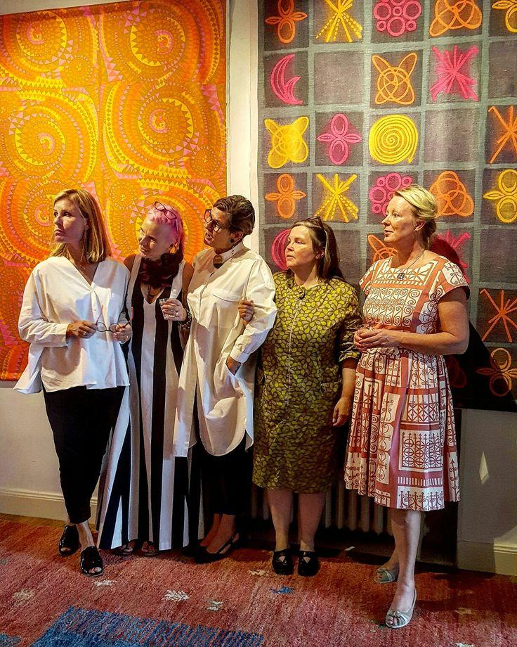 Från vänster Ann Berg Målhammar galleri, Eva Karlsson teda art project, Barbro Fägerblad klänningssmide, Margareta Backström Öberg Lata Pigan och Maria Jernkvist Prylodesign