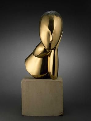 Museum of Fine Arts, Houston, Constantin Brancusi - A Muse, bronze poli.