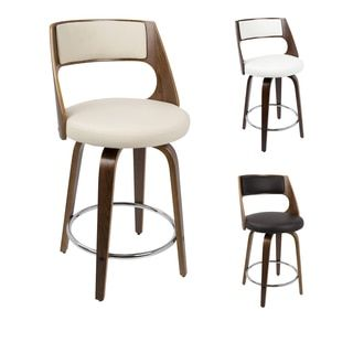 Shop For Cecina Mid Century Modern 24 Inch Counter Stool By LumiSource. Get  Free. Furniture OutletOnline ...