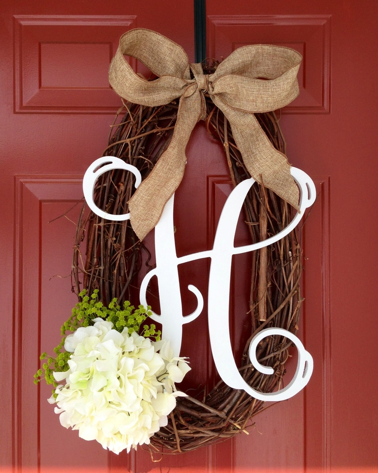 Actually cute. I like the egg-shaped wreath for spring, and I always love a monogram!