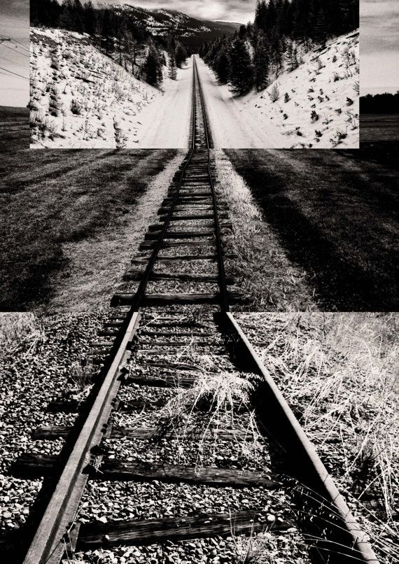 Intersecting Railroads V  Digital Collage print  by Posterium, $15.00