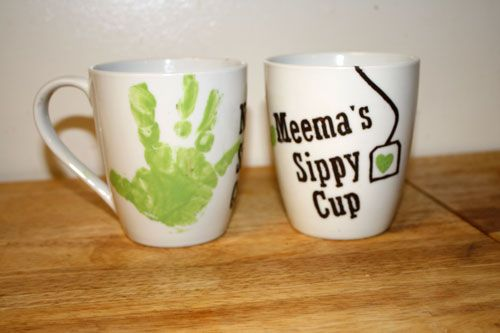 One Sassy Housewife: DIY Mother's Day Mugs. would make a cute gift to the mother.