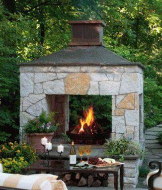 215 best outdoor fireplaces images on Pinterest | Backyard ideas ...