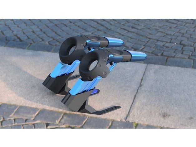 HTC Vive Gun Controller Holder by TsubokuLab - Thingiverse