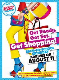 Teen Vogue Promoting Back-to-School Shopping Day - NYTimes.com