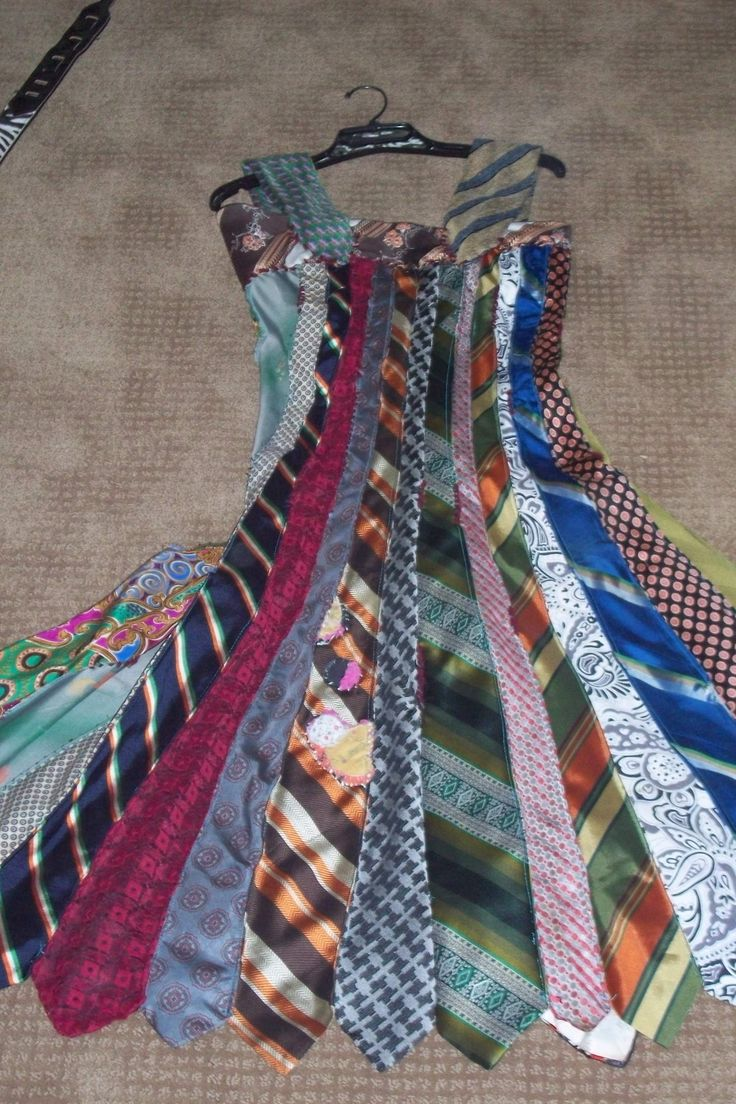 Tie Dress....very cool idea but i wouldnt use so many different colors