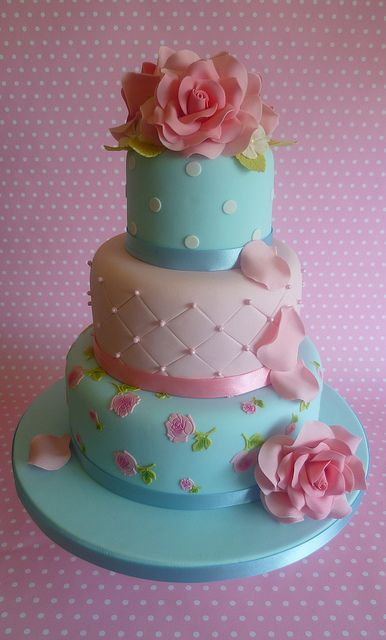 Cath Kidston cake - The Cake Boutique London