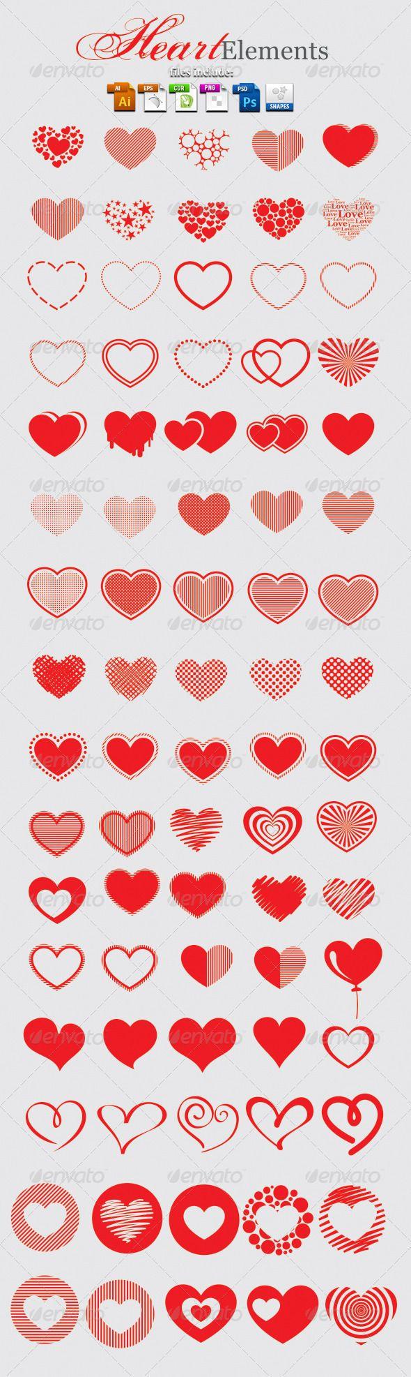 Heart Elements - Symbols Shapes