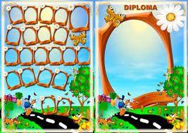 Resultado de imagen de diplomas y orlas infantil