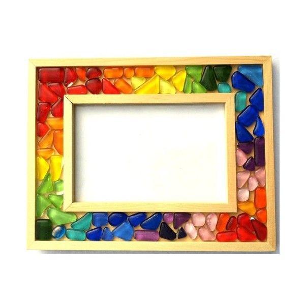 Kit mosaïque enfant : cadre photo multicolore