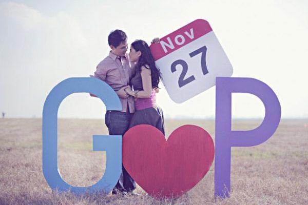 Además pueden utilizar letras gigantes para un increíble save the date #bodas…