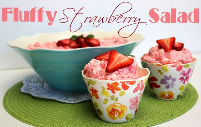 Fluffy Strawberry Salad