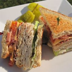 "Lorraine's Club Sandwich | ""An easy, quick, and delicious sandwich to eat anytime."" #recipe #best"