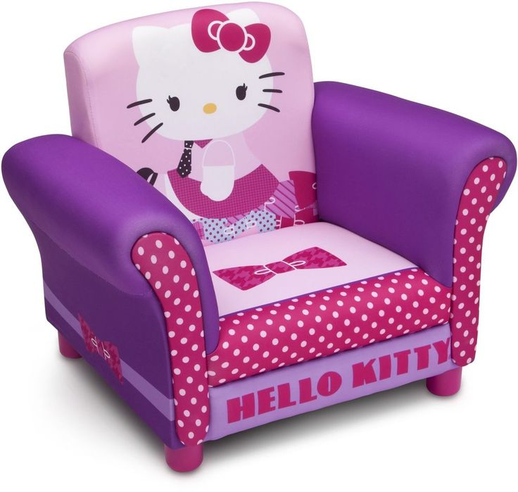 Girls Hello Kitty Upholstered Chair Pink Purple Kids Furniture Gaming Reading #Unbranded