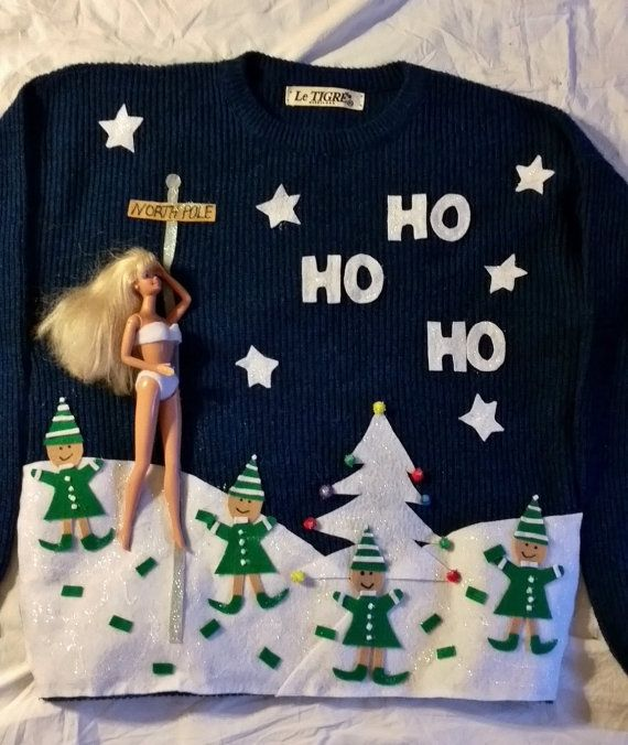 Hysterical TackyUgly  Naughty Christmas by VintageDesignByVines