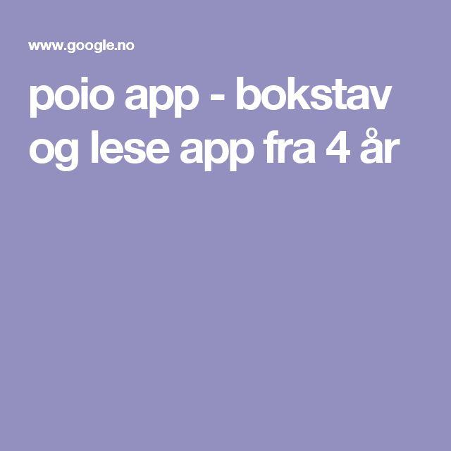 poio app - bokstav og lese app fra 4 år
