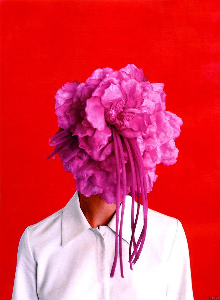 .: Red And Pink, Favorite Colors, Head Flowers, Red Flowers, Vogue Germany, Enrique Badulescu, Faces Veils, October 2001, Germany October