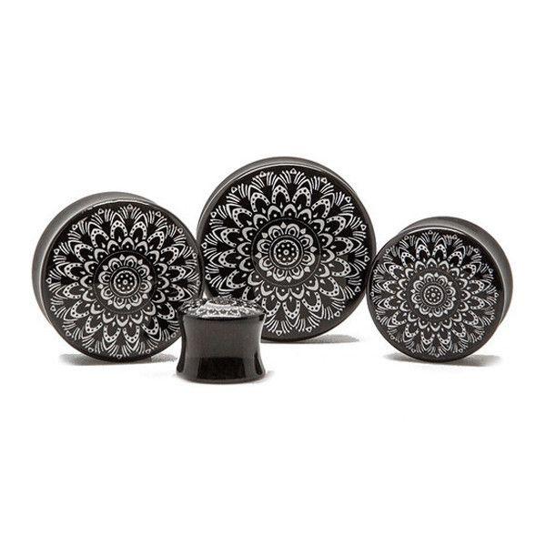 Black and White Mandala - Plug | custom-plugs-us