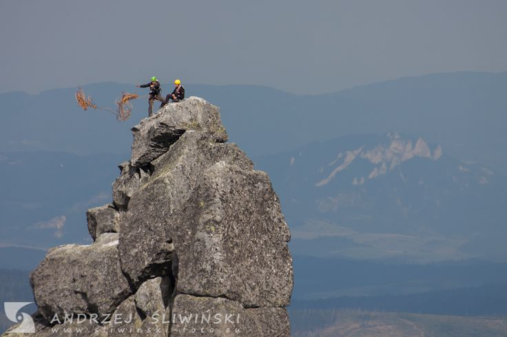 Climbers in the Tatra Mountains, Poland. #mountainphotography