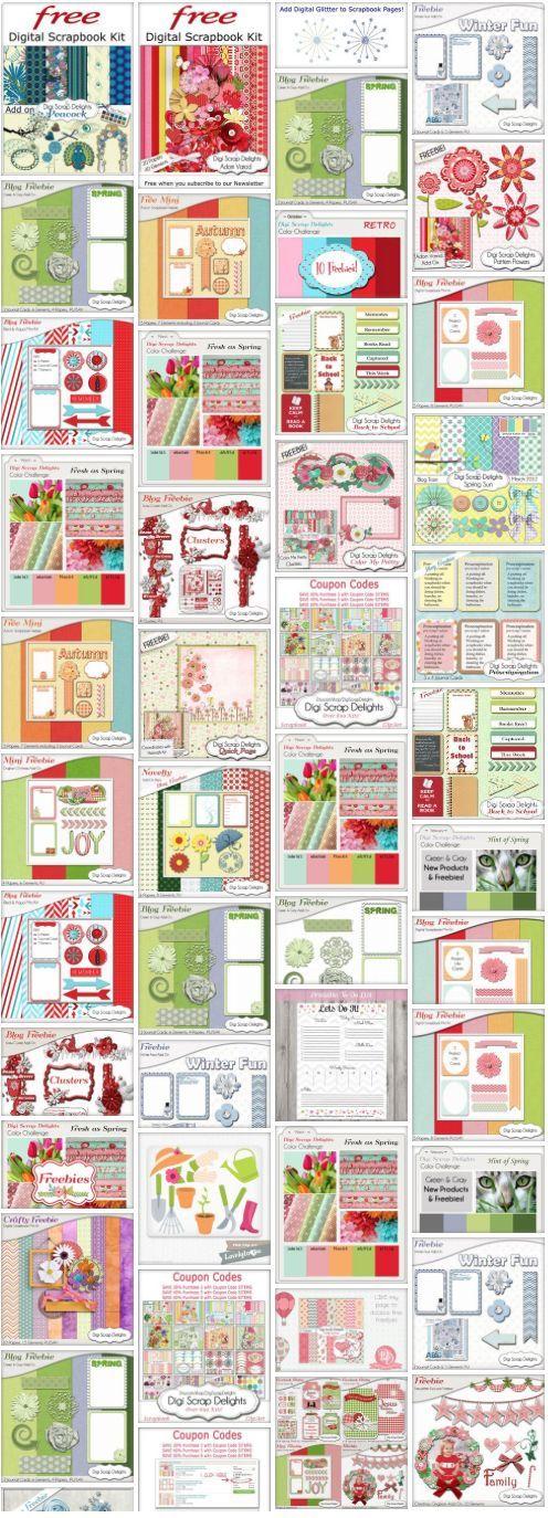 Dozens of Digital Scrapbook Freebies #Free http://heartofwisdom.com/scrapbook/category/freebies