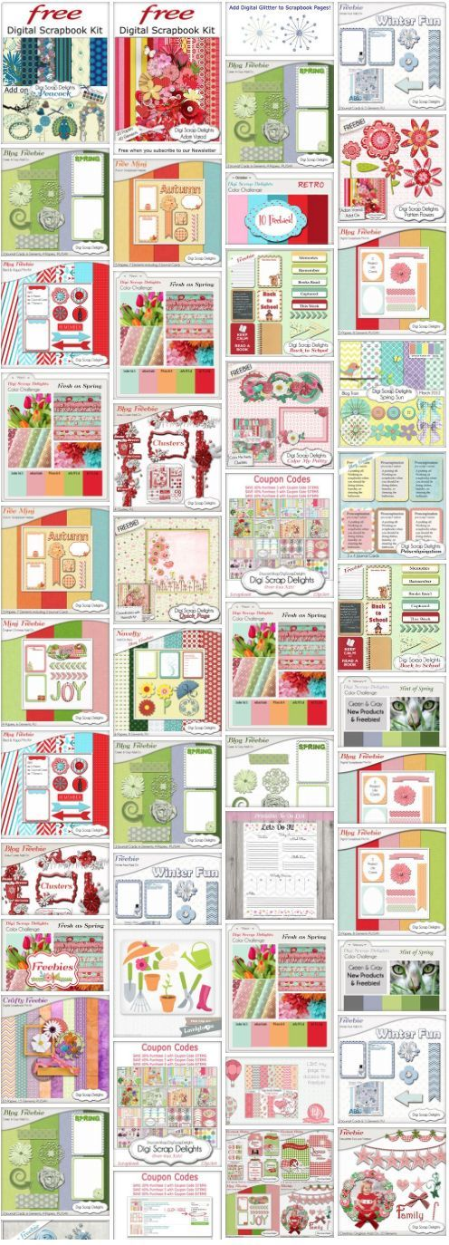 Dozens of Digital Scrapbook Freebies #Free http://heartofwisdom.com/scrapbook/category/freebies