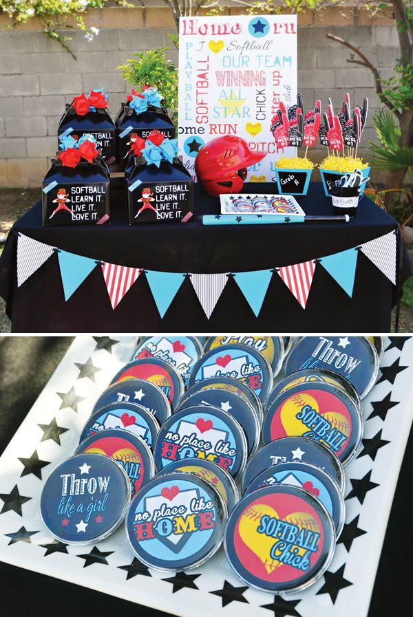 Good ideas for end of year softball party Slammin Softball 10th Birthday {Tween Party}