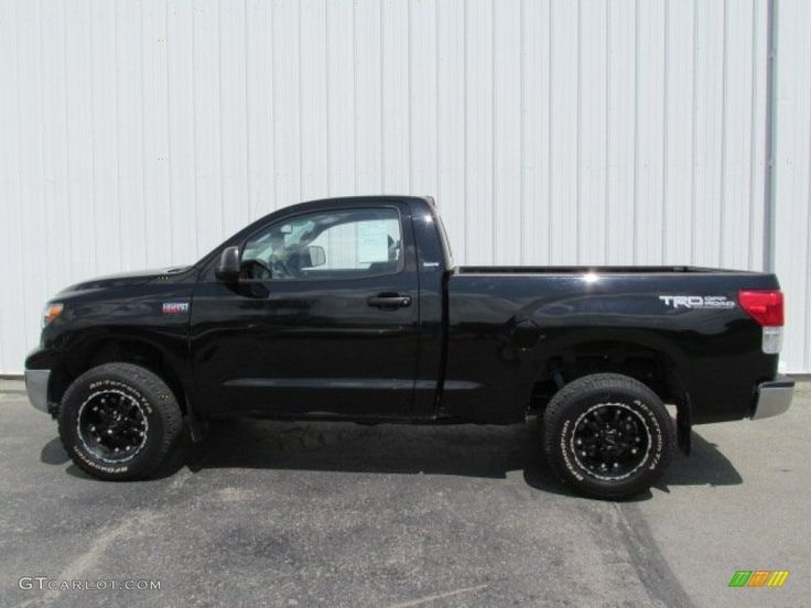 Black 2010 Toyota Tundra TRD Regular Cab 4x4 Exterior Photo #81327605