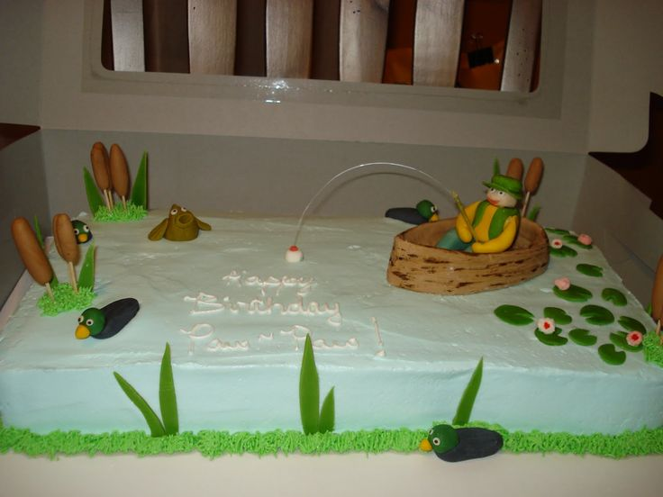 9 best dads birthday images on Pinterest Fishing birthday cakes