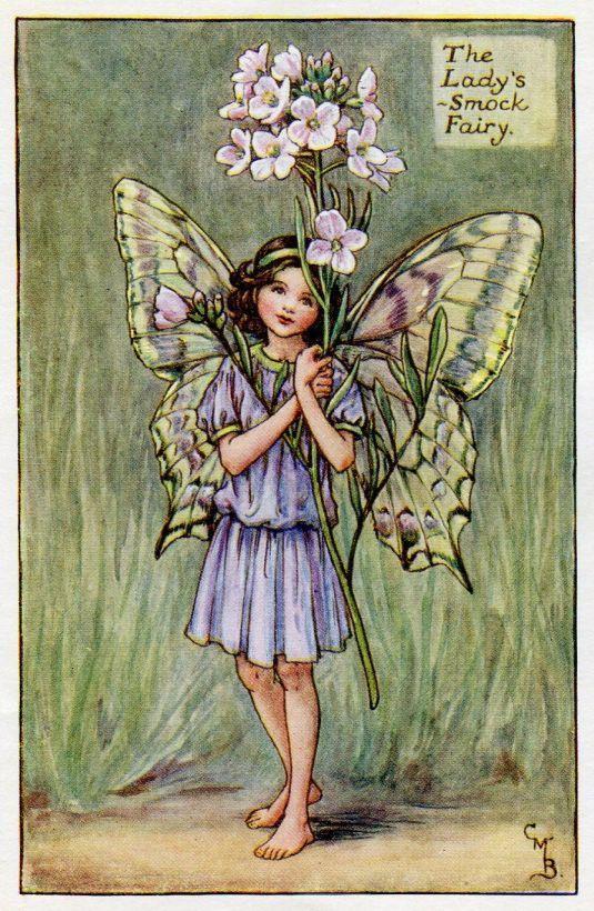 Dame-blouse fleur fée Vintage d'impression, c.1927 Cicely Mary Barker livre plaque Illustration