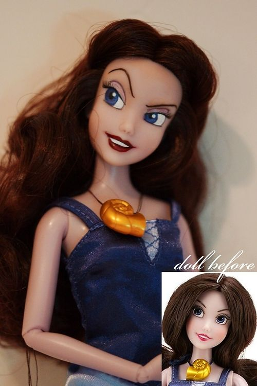 Vanessa OOAK doll from Disney´s The Little Mermaid. The eyes are reshaped, full facial repaint, hair restyled.