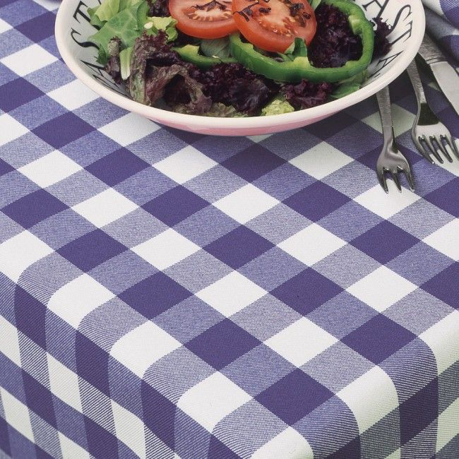 Blue Gingham Tablecloths Oswaldtwistle Mills Linens