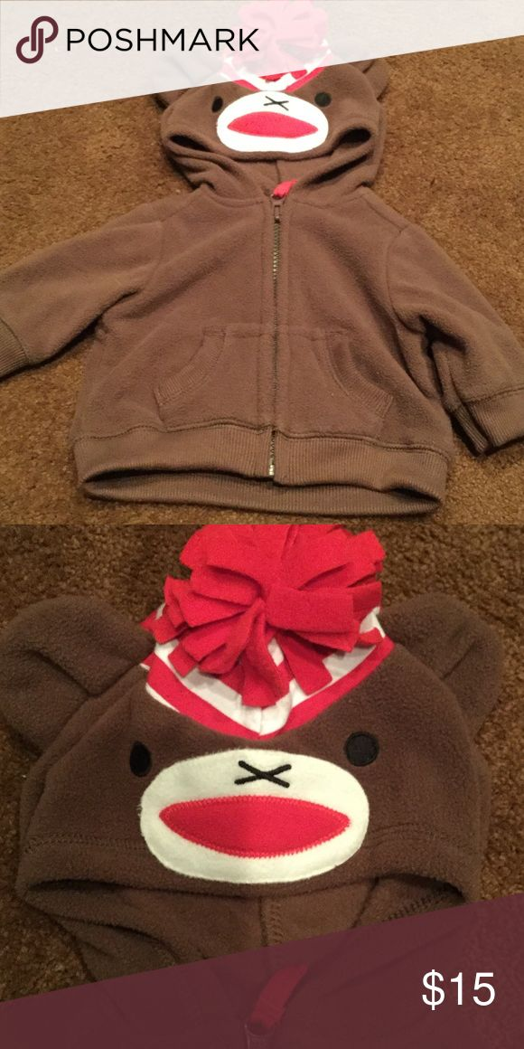 Sock monkey jacket Sock monkey zip up jacket. Great condition. No holes or stains.  Smoke free home Old Navy Jackets & Coats