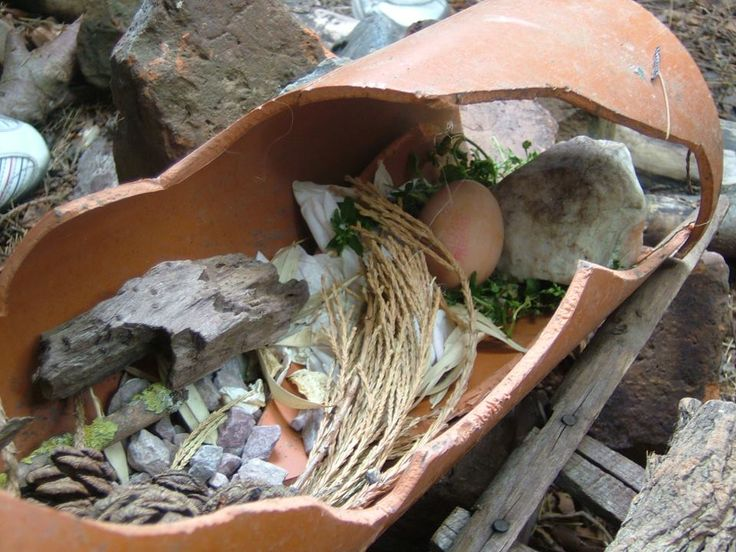 This nest was built on our children's Adventure Xperience. The children have put rocks in there for birds to sharpen their claws on & soft plants for the bird to sleep on. The children added the egg to see how comfortable it would be in its nest.    #adventure #nature #children #physicalactivity