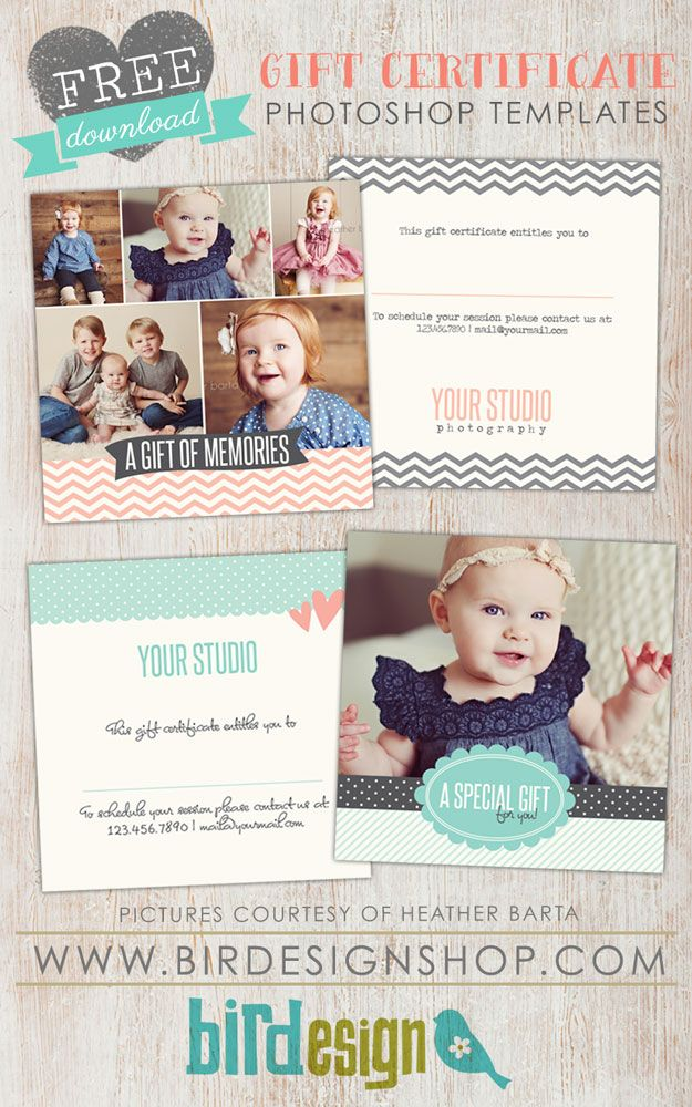 Free Gift Certificate templates for photographers!