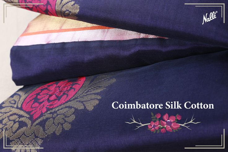 It's an elegant blend of silk and cotton, with a stunning zari border and pallu. Priced INR 6,823/-, available at our website! #Nalli #sareesonline #onlineshopping #Coimbatore #silk #cotton #saree #indian #handloom #fashion