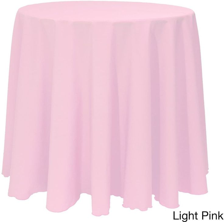 Christmas Solid Round Bright Color Durable Light Pink Tablecloth Decor 90 Inches #Christmas #LightPink #BrightColor #SolidRound #Tablecloth #Decor #Seasonal #HomeDecor #ChristmasDecor #HolidayDecor #Shopping #HolidayAccents