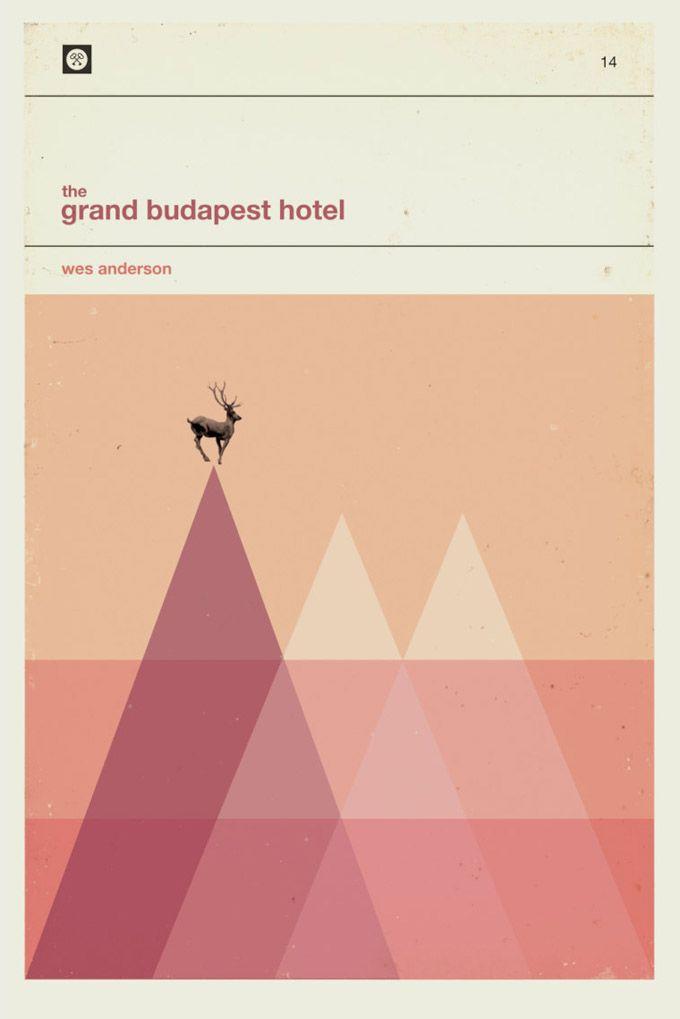 #WesAnderson Paperback Posters #MinimalistPoster by Patrick Concepcion #TheGrandBudapestHotel