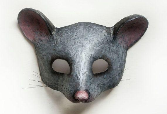 La fête costumée de souris grise masque masque animaux masque Papier mâché tête d'Animal Festival